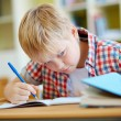 Learner cheating at lesson — Stock Photo #63889347