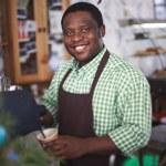 Happy waiter in uniform — Stock Photo #63889673
