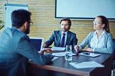 Two employers talking — Stock Photo