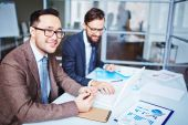 Asian Young businessmen — Stock Photo