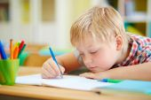Learner making notes — Stock Photo