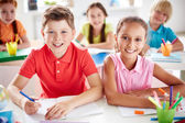 Little school friends — Stock Photo