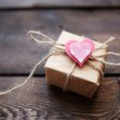 Giftbox with small heart — Stock Photo #63890671