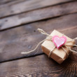 Giftbox with pink heart — Stock Photo #63890675