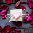 Giftbox with decorative heart — Stock Photo #63890679