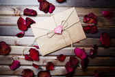 Romantic letter of love — Stock Photo