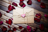 Romantische brief van liefde — Stockfoto
