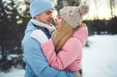Amorous couple in embrace — Stock Photo