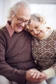 Devoted seniors in casual-wear — Stock Photo