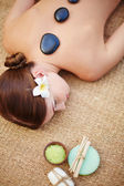 Girl having relaxing massage — Stock Photo