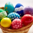 Basket with colorful Easter eggs — Stock Photo #66456667