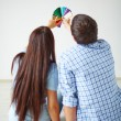 Rear view of young couple — Stock Photo #66457259