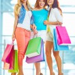 Happy shopaholics with paperbags — Stock Photo #66457729