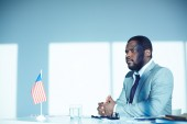 African-american employer — Stock Photo