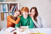 Group of friendly students — Stock Photo