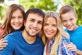 Portrét rodičů s dětmi — Stock fotografie