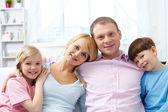 Portrait of modern family — Stock Photo