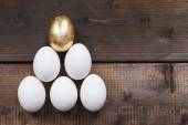 Pyramid made up of eggs — Stock Photo