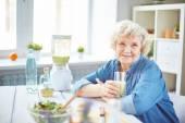 Portrait of elderly female — Stock Photo