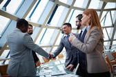 Business partners handshaking — Stock Photo