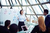 Woman making presentation — Stock Photo