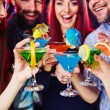 People clinking cocktails — Stock Photo #69437881