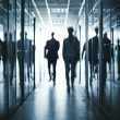 Business people walking  office building — Stock Photo #73932735