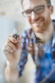 Algebraïsche formule geschreven door de mens — Stockfoto