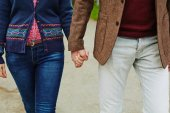 Couple holding by hands — Stock Photo