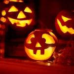 Halloween eerie jack-o-lanterns — Stock Photo #79701442
