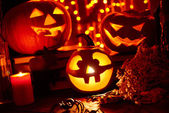 Halloween holiday symbols — Stock Photo