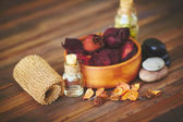 Objects for aromatic oil massage — Стоковое фото
