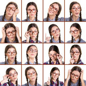 Different expression girl — Stock Photo