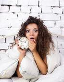 Oversleep girl — Stock Photo