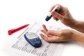 Diabetes test — Stock Photo