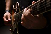Men playing on guitar — Stockfoto