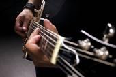 Müzisyen oynamak — Stok fotoğraf
