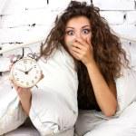 Oversleeping girl — Stock Photo #56145029