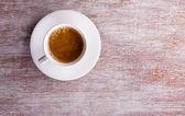 Taza de café con espuma — Foto de Stock