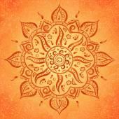 Orange indian ornament — Stock Vector