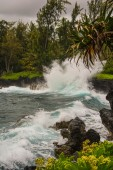 Coastal view along the road to Hana, Hawaii — Stock Photo