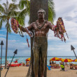 Постер, плакат: The Duke Kahanamoku statue Waikiki