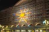 The sun on the station by night, Turin — Stock Photo