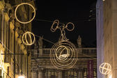 The tightrope on the circle of light, Turin — Foto de Stock