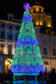 Christmas Tree in Turin — Stock Photo