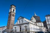 Turin Cathedral,Bell Tower and Chapel of the Holy Shroud — Stock Photo