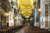 The interior of San Francesco d'Assisi Church in Turin — Stock Photo