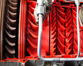 Mechanical parts of the turbine engine — Stock Photo