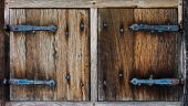 The Old wooden shutters of farm house — Stock Photo