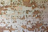 Old cracked  dilapidated wall  — Stock Photo
